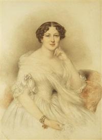 portrait einer österreichischen adeligen by johann nepomuk ender
