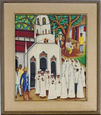 church procession by castera bazile