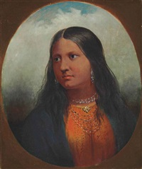 portrait of an arikara woman by alfred jacob miller