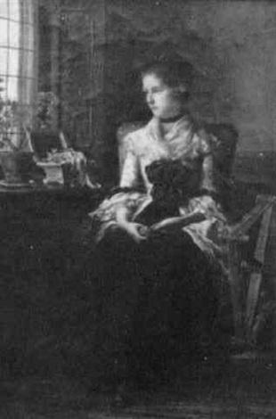woman sitting by the window by percival de luce