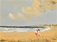 friends at the beach by thelma mansfield