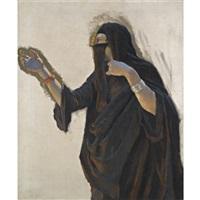 veiled lady by ludwig deutsch