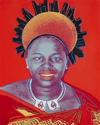 queen ntombi twala of swaziland (from reigning queens series) by andy warhol
