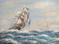 voiliers sous le vent by montague dawson