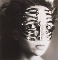 penelope tree, mask by ungaro, paris studio, january by richard avedon