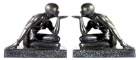 l'enigme rare paire d'importantes sculptures by maurice guiraud-rivière