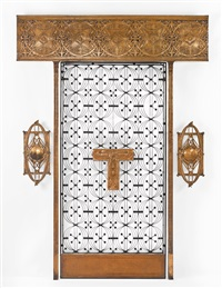 elevator grill from the chicago stock exchange, chicago, illinois by dankmar adler and louis sullivan