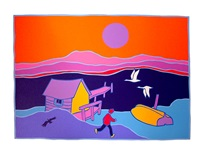 tagish swans by ted harrison
