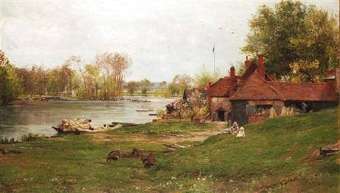 the thames at pangbourne by james aumonier