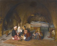 eine familie in bethlehem (a family in bethlehem) by hermann behmer