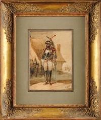 cuirassier au garde à vous arborant sa légion d'honneur ! by nicolas toussaint charlet
