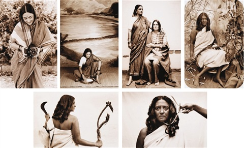 the ethnographic series set of 45 works by pushpamala n