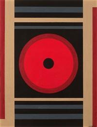 compositie met cirkels en rechthoeken (rood-geel) by amédée cortier