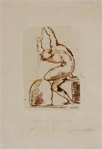 etude de batelier nu (study) by théodore géricault