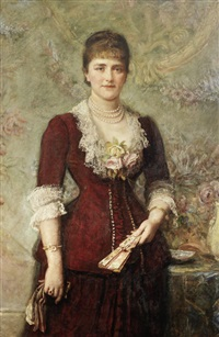 portrait of lucy stern by sir john everett millais