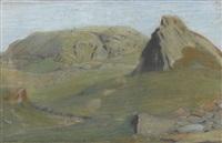 berglandschaft im sommer by jean philippe edouard robert