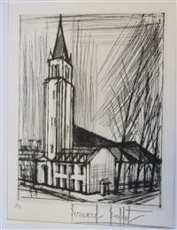 eglise saint germain by bernard buffet