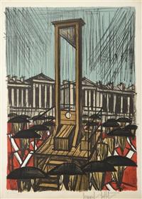 la guillotine - suite la révolution française 1789 by bernard buffet