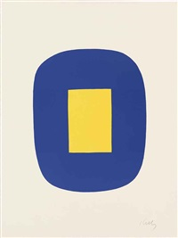 blue and yellow by ellsworth kelly