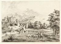landschaften (3 works) by jean-jacques de boissieu