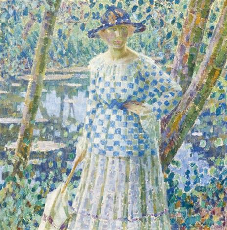 girl in the garden by louis ritman
