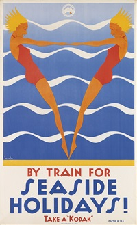 by train for seaside holidays by gert sellheim