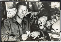 self-portrait with skull by peter beard