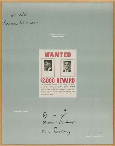 a poster within a poster by marcel duchamp