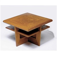 table from the living room of shizuka na uchi, the kessler residence, maplewood, new jersey by john rattenbury