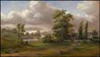 country home by the river (+ waiting for the boats to come in; 2 works) by joseph julius humme