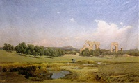 ruins in the roman campagne by l.j. graham-clarke