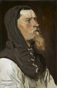 un chevalier (study) by jean paul laurens