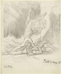 hero embracing the drowned leander by henry fuseli
