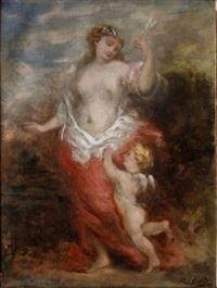 vénus et cupidon by marie-abraham rosalbin de buncey