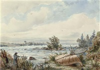 rapids at sault ste. marie by william wallace armstrong