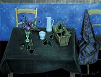nature morte sur une table by simon simon-auguste