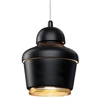 pendant lamp a330 golden bell by alvar aalto