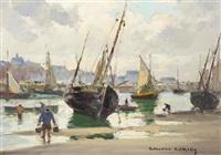 harbor scene by edouard léon cortès
