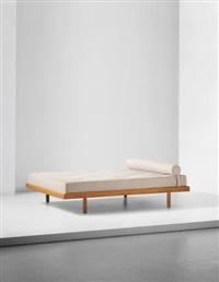 double bed, designed for la chambre d'étudiant de la maison du brésil, cité internationale universitaire de paris by charlotte perriand
