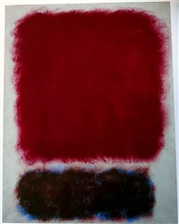 untitled (red over brown) by mark rothko