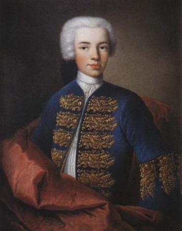 portrait de jeune garçon à la veste bleue brodée by baziray