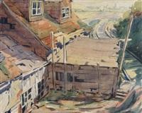 rail line & building by bernard middleton