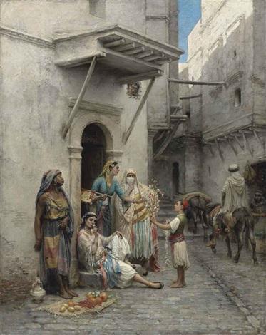 le jeune marchand de fleurs by pierre outin
