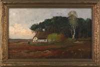 landscape with cottage by martinus jacobus nefkens