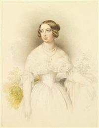 portrait présumé de la comtesse de chambord by johann nepomuk ender