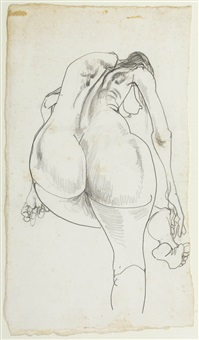 nude #4 (four nudes series) by brett whiteley