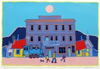 carcross summer by ted harrison