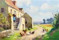 country landscape by edouard léon cortès