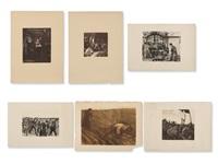 3 etchings & 3 lithographs by käthe kollwitz