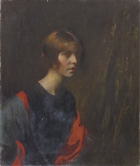crimson and gold by edmund charles tarbell